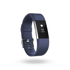 FITBIT CHARGE HR 2 ACT. TR. BLEU LARGE