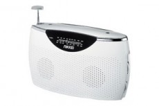 NIKKEI PORTABLE RADIO BLANC NPR100WE