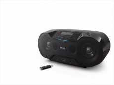 SONY BOOMBOX ZSR-S70 BLACK BLUETOOTH